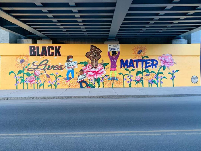 Step Out Buffalo: This Black Lives Matter Mural Went Up In 3 Days